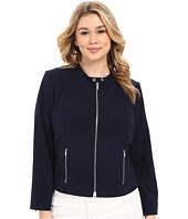Calvin Klein Plus - Plus Size Lux Jacket w/ Zip