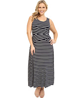 Calvin Klein Plus - Plus Size Stripe Maxi Dress