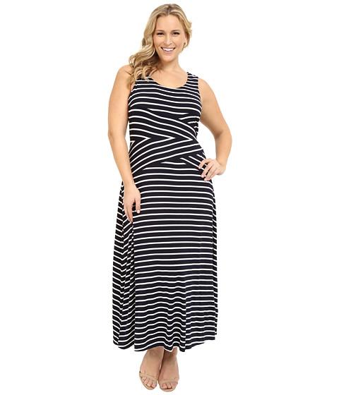 Calvin Klein Plus Plus Size Stripe Maxi Dress