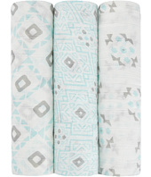 aden + anais - Petunia Pickle Bottom Silky Soft Swaddle 3-Pack