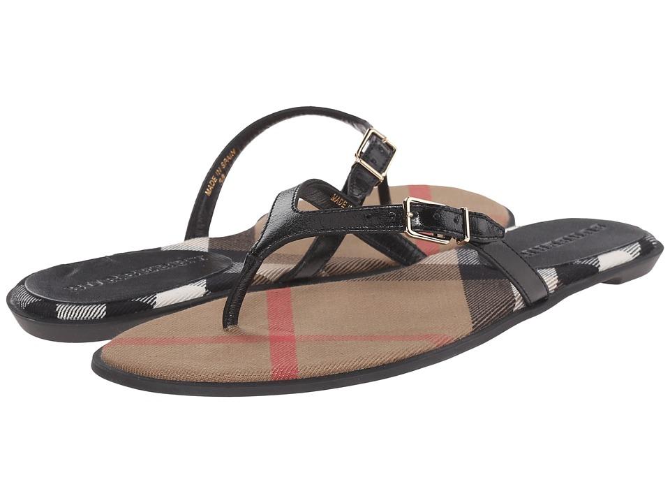 Burberry Meadow Black Womens Sandals