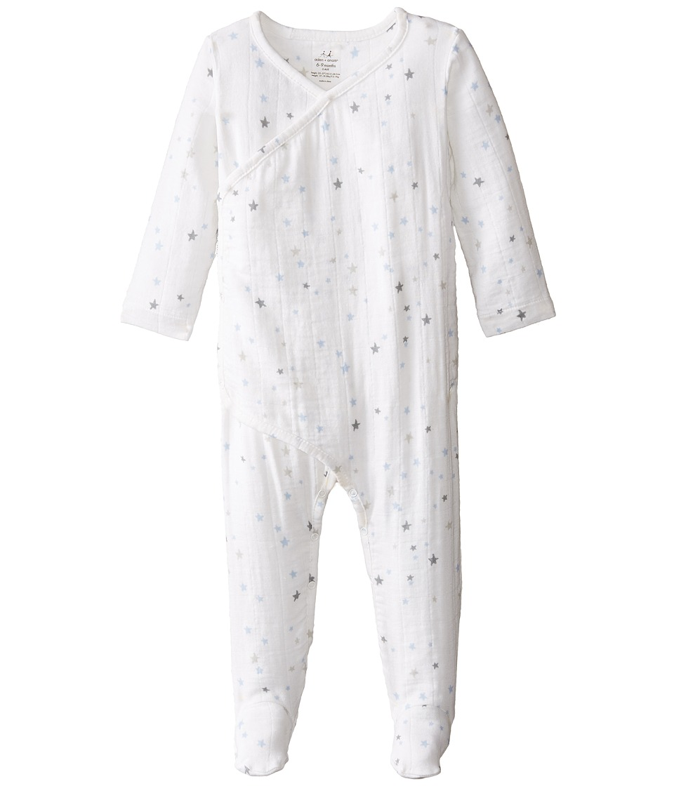 aden anais Long Sleeve Kimono Infant Night Sky Starburst Kids Blouse