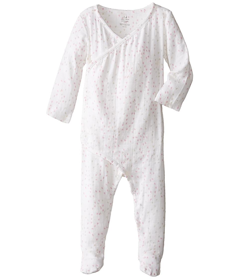 Aden + Anais Long Sleeve Kimono (Infant) (Lovely Mini Hea...