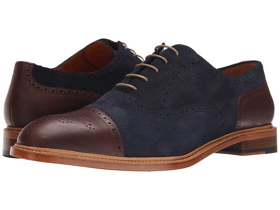 Crosby Square Jermyn Navy Mens Lace up casual Shoes