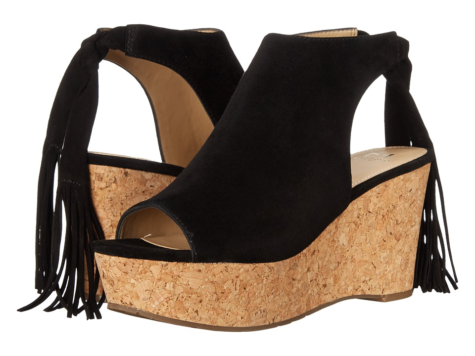 Marc Fisher LTD Sueann Black Suede Womens Wedge Shoes