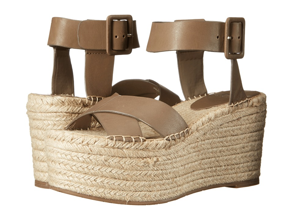 Marc Fisher LTD Randall Dark Taupe Leather Womens Sandals