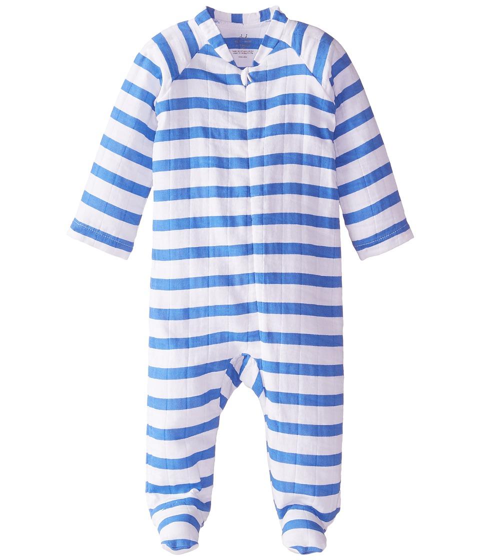 aden anais Long Sleeve Zipper One Piece Infant Ultramarine Blazer Stripe Kids Jumpsuit Rompers One Piece