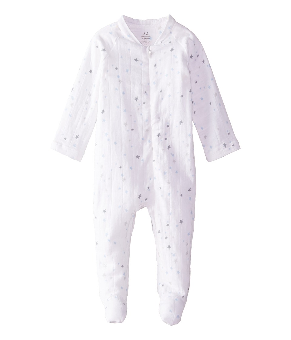 aden anais Long Sleeve Zipper One Piece Infant Night Sky Starburst Kids Jumpsuit Rompers One Piece