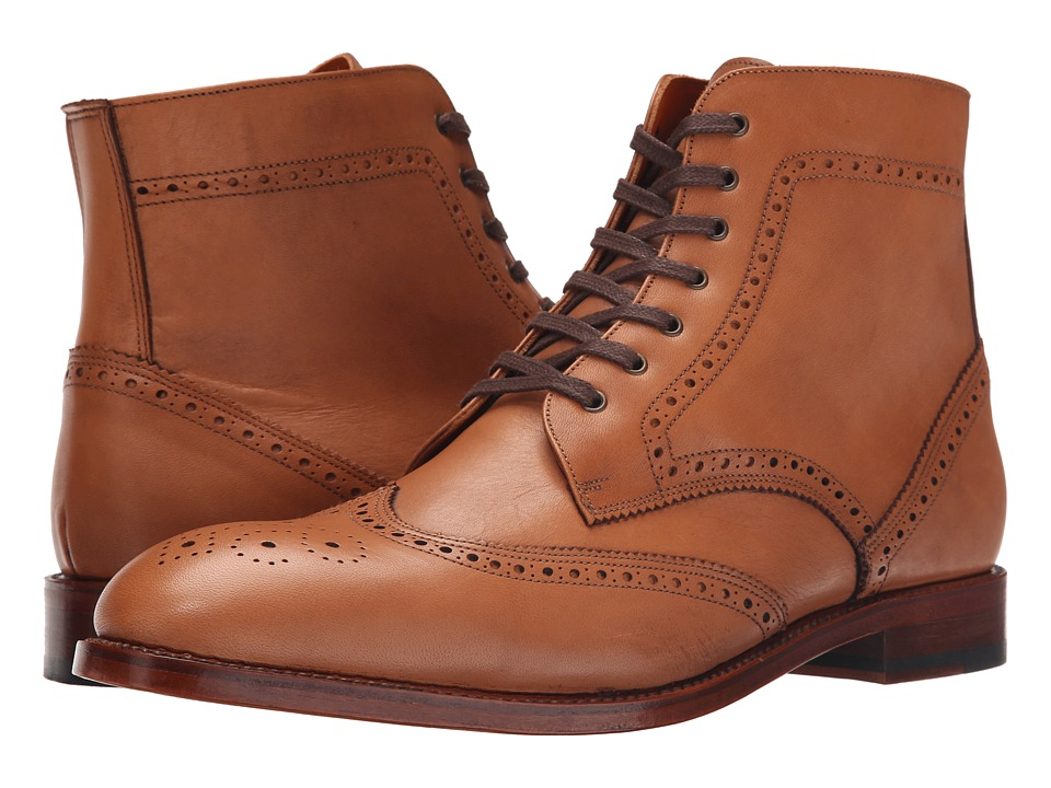 Crosby Square Knightsbridge Tobacco Leather Mens Lace up Boots