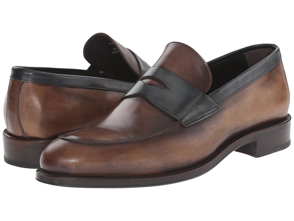 Crosby Square Burtson Whiskey/Teal Mens Slip on Shoes
