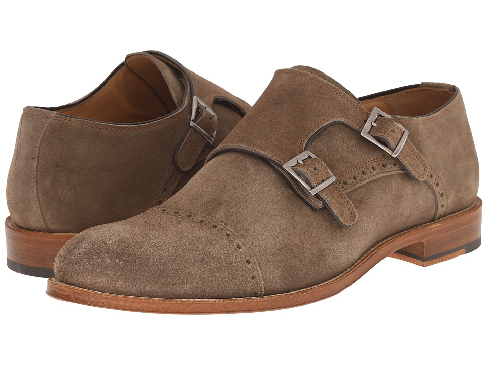 Crosby Square Allen Light Brown Suede Mens Slip on Shoes