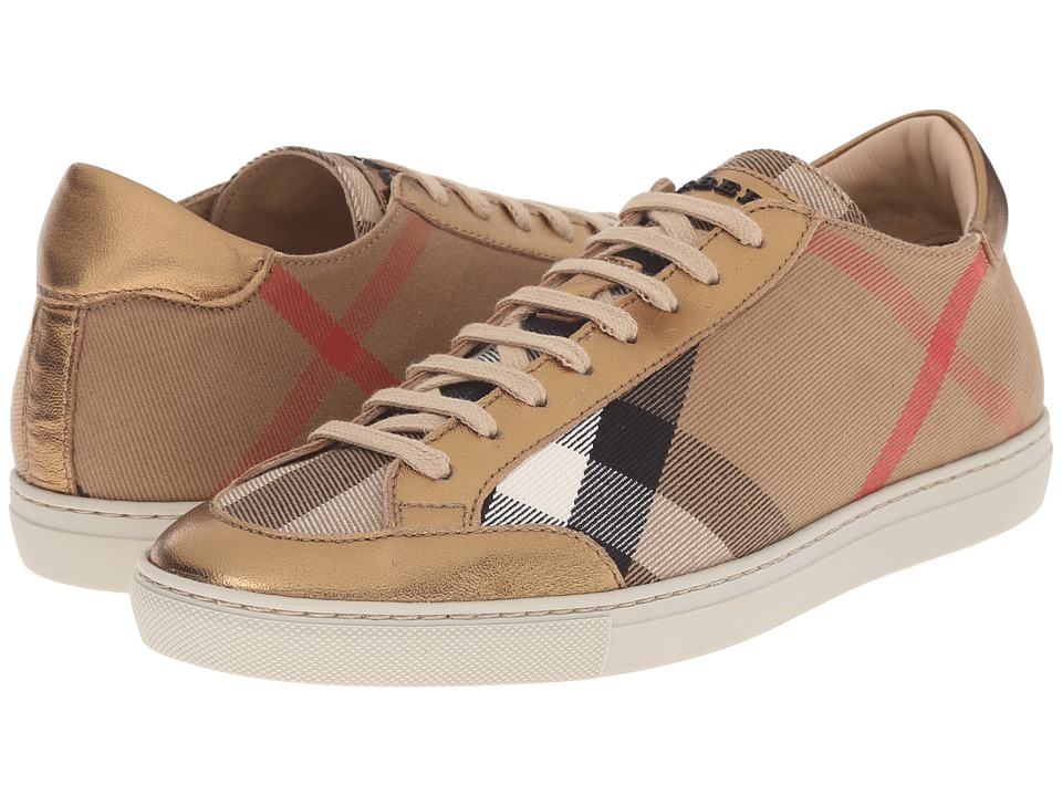 Burberry Hartfield Heritage Gold Womens Lace up casual Shoes