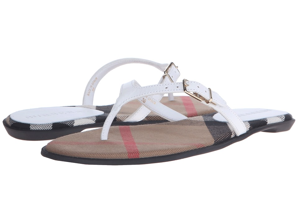 Burberry Meadow Optic White Womens Sandals
