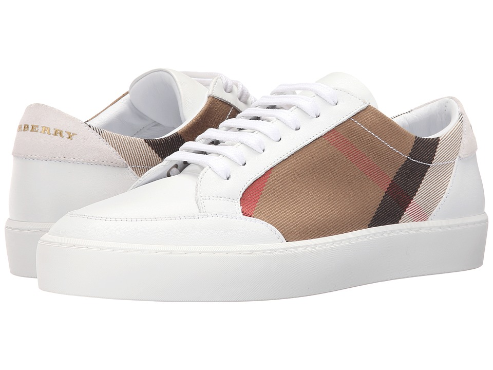 Burberry - Salmond (House Check/Optic White) Womens Lace up casual Shoes