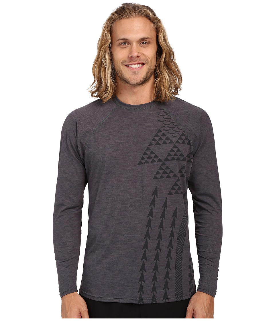 XCEL Wetsuits Haleiwa VENTX UV Long Sleeve Heather Charcoal Mens Clothing