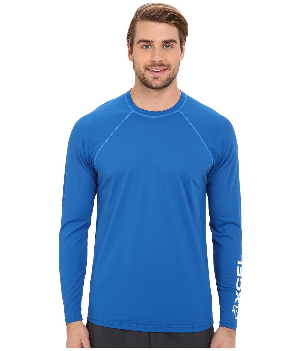 XCEL Wetsuits Signature L/S VENTX UV Nautical Blue Mens Swimwear