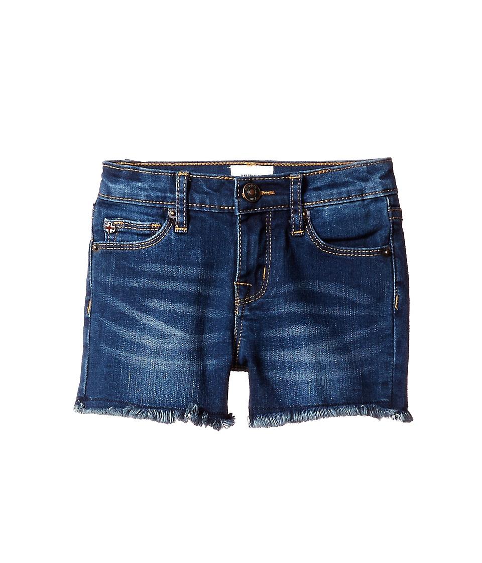 Hudson Kids 3 Fray Shorts in Freezer Blue Toddler/Little Kids Freezer Blue Girls Shorts