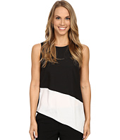 Calvin Klein - Sleeveless Top w/ Angle Bottom