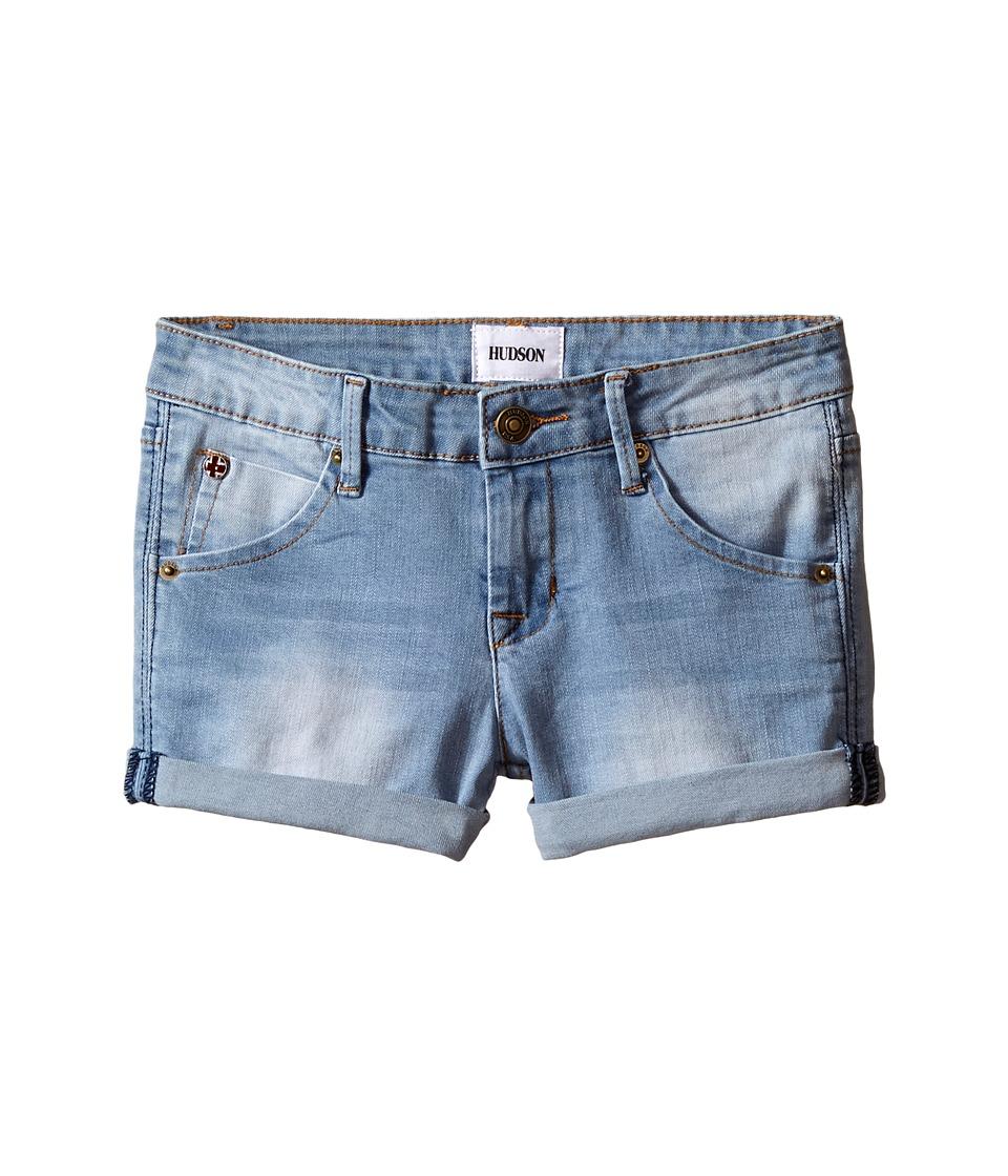 Hudson Kids 2 1/2 Roll Shorts in Vintage Blue Big Kids Vintage Blue Girls Shorts