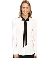 Calvin Klein - Long Sleeve Blouse w/ Tie Collar