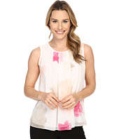 Calvin Klein - Sleeveless Print Blouse w/ Pleat