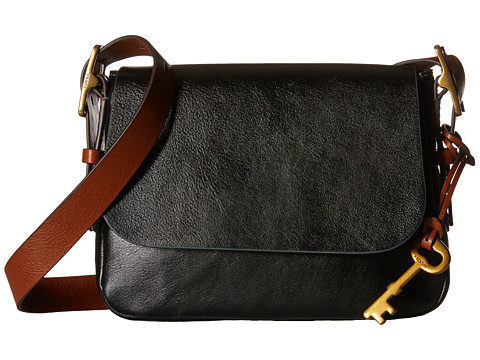 Fossil Harper Small Saddle Crossbody - Black