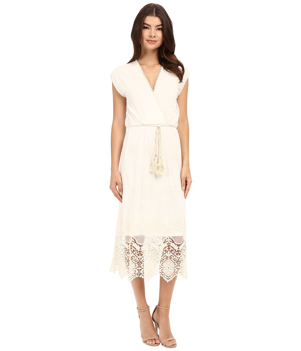 Brigitte Bailey Mia Sheer Long Sleeve Dress Ivory Womens Dress