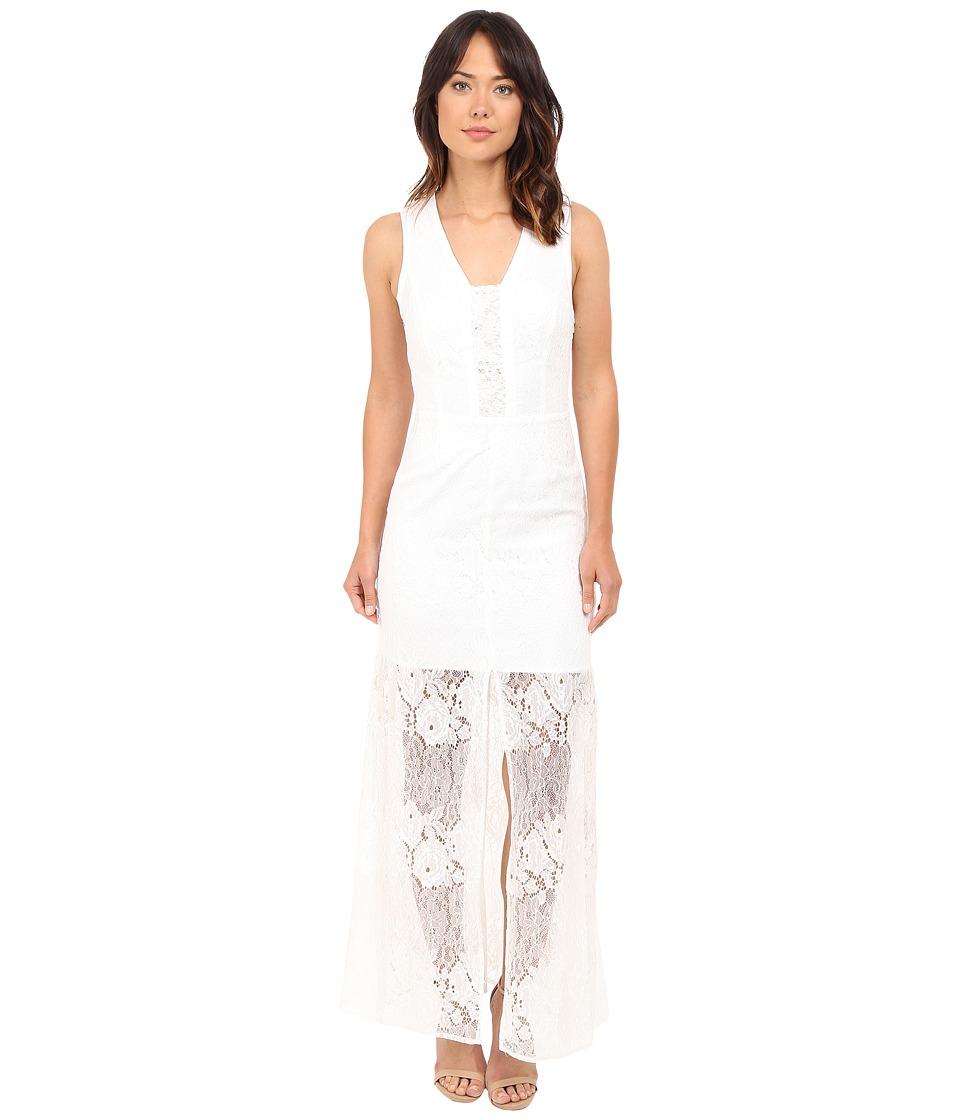 Brigitte Bailey Lily Sleeveless Lace Maxi Dress Ivory Womens Dress