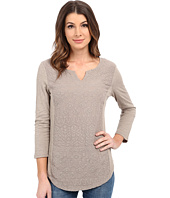 Dylan by True Grit - Soft Gauzy Cotton 3/4 Sleeve w/ Embroidery and Knit