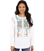 Dylan by True Grit - Embroidered Long Sleeve Tunic