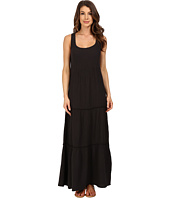 Dylan by True Grit - Soft Gauzy Cotton Tiered Tank Maxi Dress