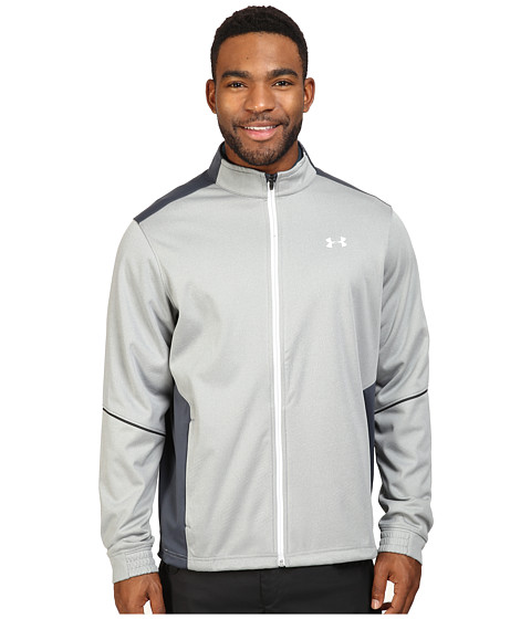 Under Armour Golf Elements Full Zip Update - True Gray Heather/Stealth Gray/Stealth Gray