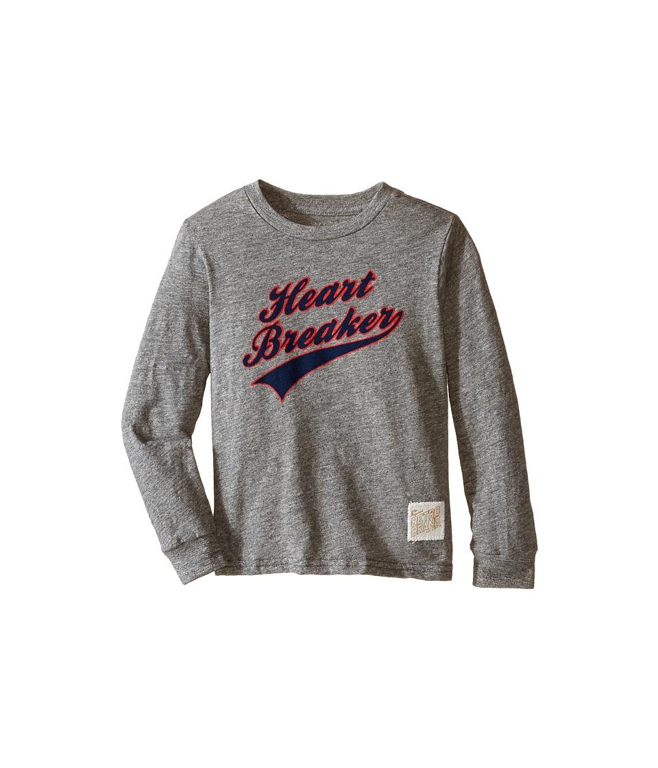 The Original Retro Brand Kids Long Sleeve Mock Twist Heart Breaker Tee Little Kids/Big Kids Mock Twist Grey Boys T Shirt