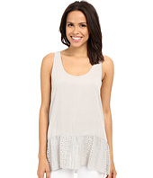 Dylan by True Grit - Dreamcatcher Flirty Tank Top w/ Lace Border