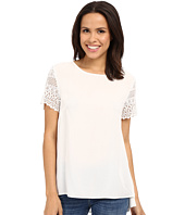Dylan by True Grit - Dreamcatcher Short Sleeve Lace Sleeve Blouse