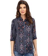 Dylan by True Grit - True Tribal Long Sleeve Pintuck Blouse