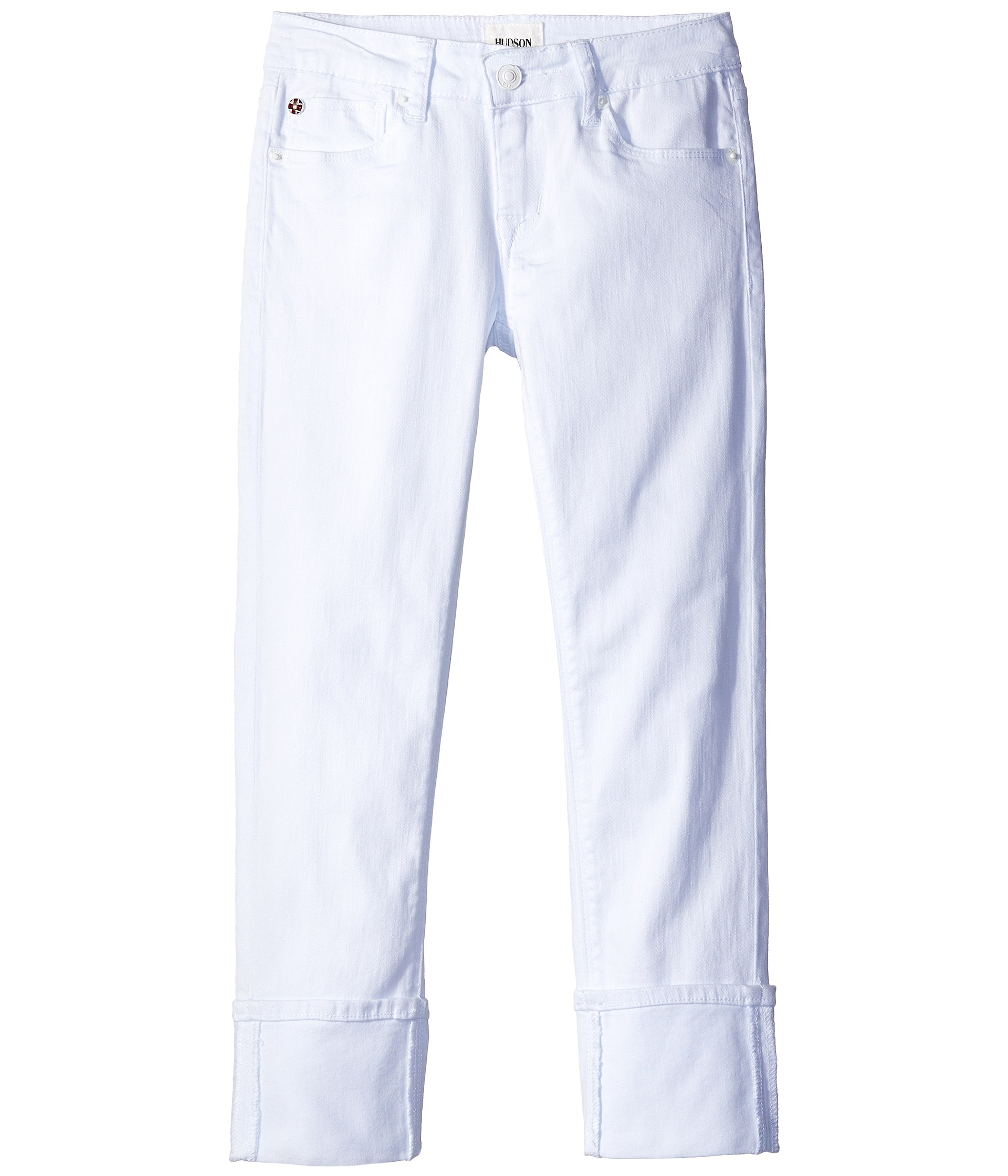 Hudson Kids Ginny Crop Jeans in White (Big Kids) - Zappos.com Free ...