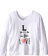 The Original Retro Brand Kids - L Is For Love Quad Sweatshirt Pullover (Little Kids/Big Kids)