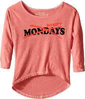 The Original Retro Brand Kids - Tri-Blend Dolman Boycott Mondays Top (Little Kids/Big Kids)