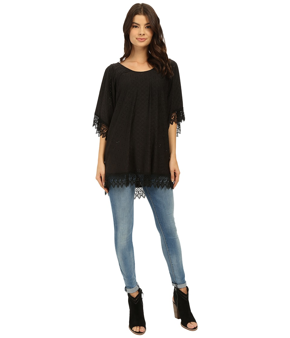 Lucy Love In Heaven Tunic Black Womens Blouse