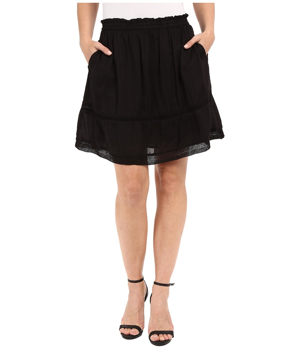 Dylan by True Grit Dream Cotton at Ease Pocket Skirt Vintage Black Womens Skirt