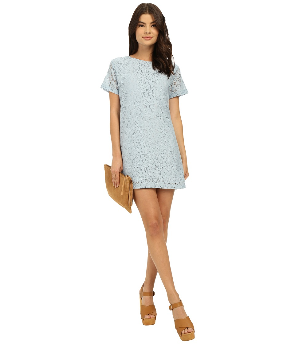 Lucy Love Charlotte Shift Mineral Blue Womens Dress