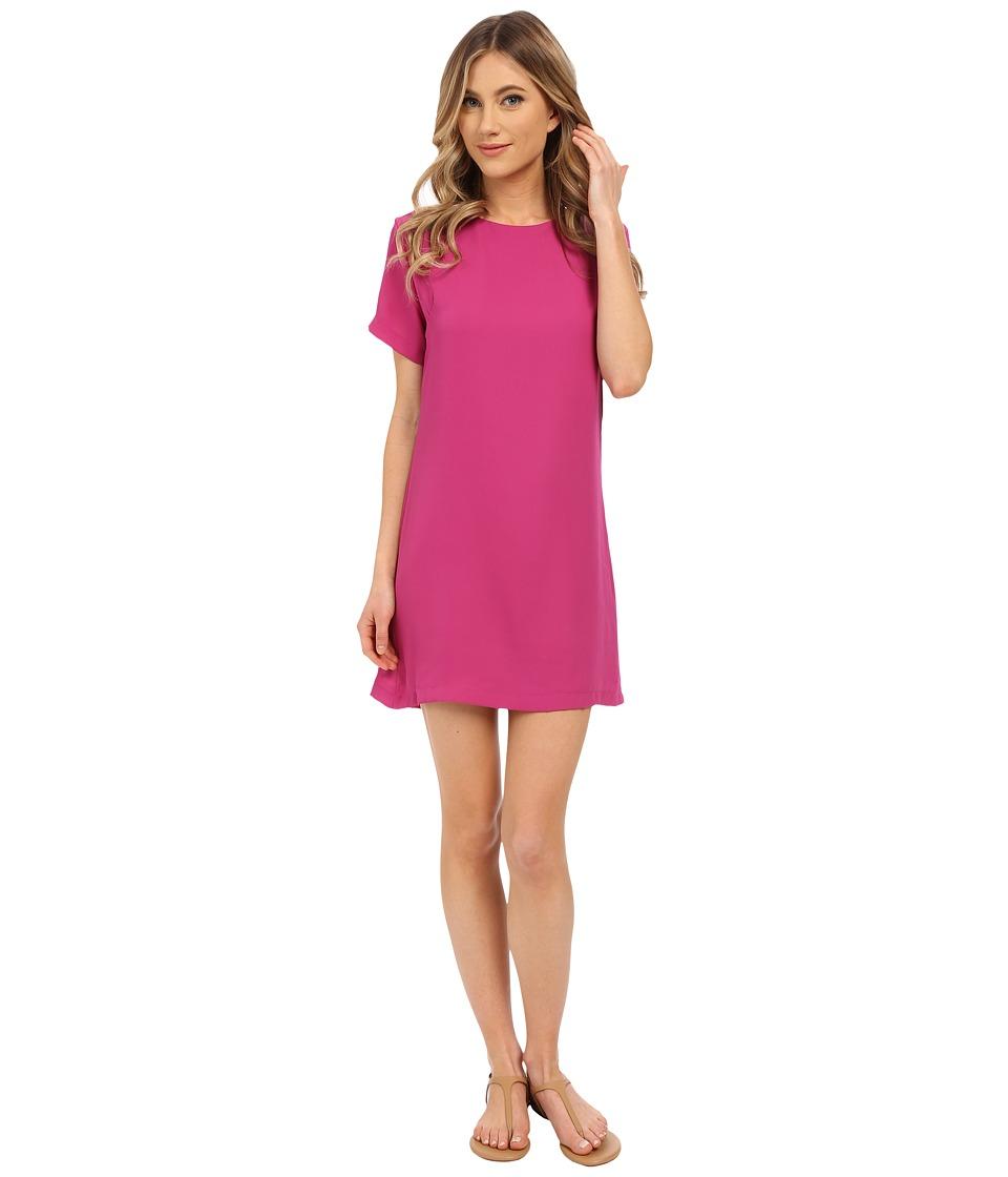 Lucy Love Charlotte Shift Dress Magenta Womens Dress