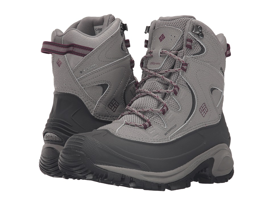 Columbia - Bugaboot II (Light Grey/Dark Raspberry) Women