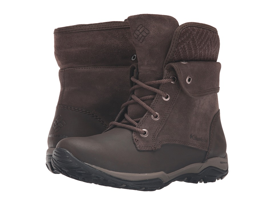 Columbia - Cityside Fold Waterproof (Cordovan/Mud) Women