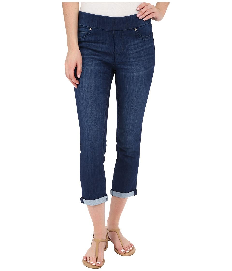 Liverpool Sienna Pull On Silky Soft Denim Capris in Havasu Deep Blue Havasu Deep Blue Womens Jeans