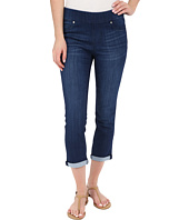 Liverpool - Sienna Pull-On Silky Soft Denim Capris in Havasu Deep Blue