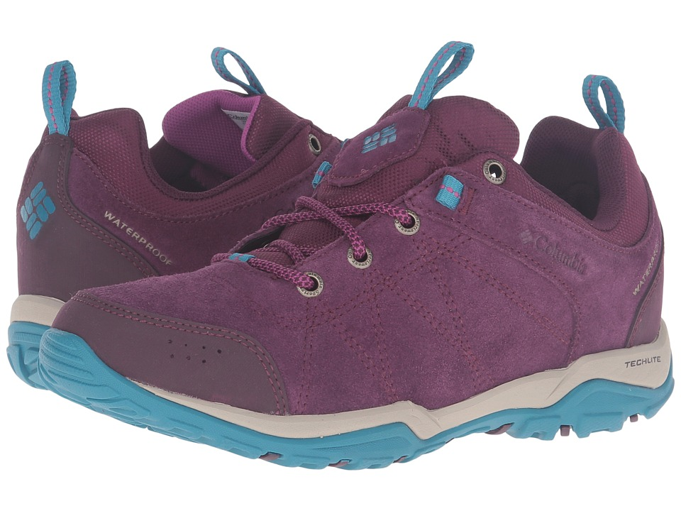 Columbia - Fire Venture Low Waterproof (Purple Dahlia/Intense Violet) Women
