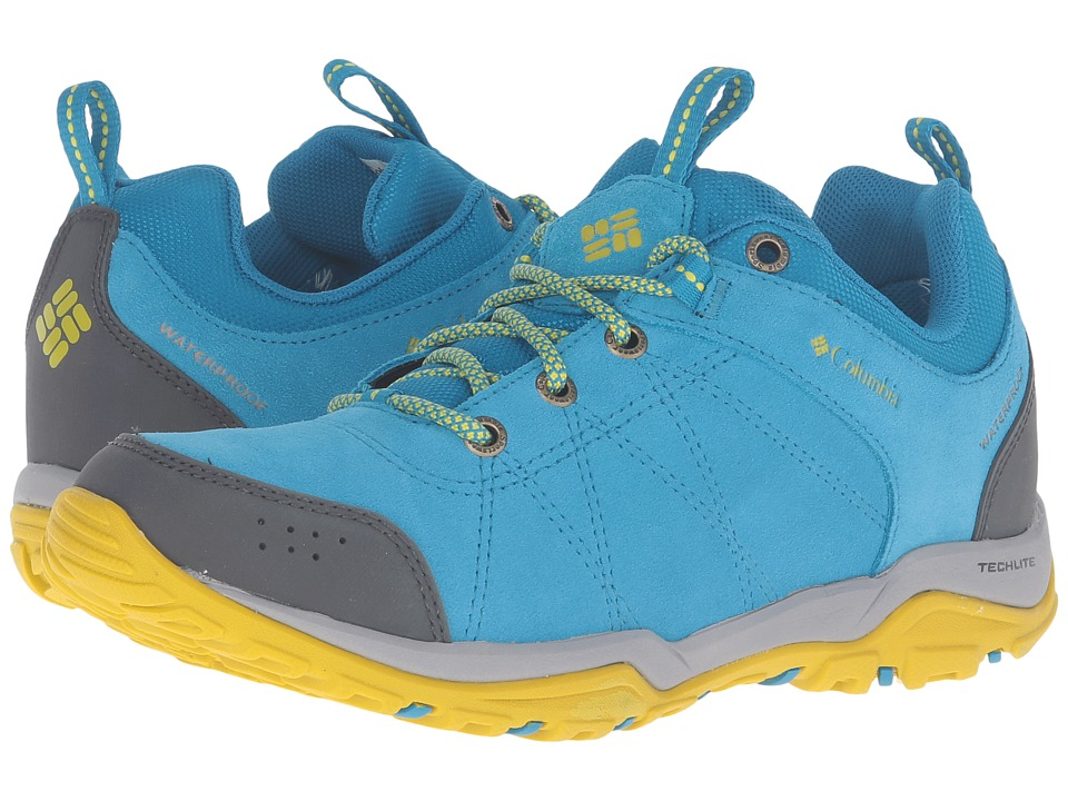Columbia - Fire Venture Low Waterproof (Oxide Blue/Ginkgo) Women