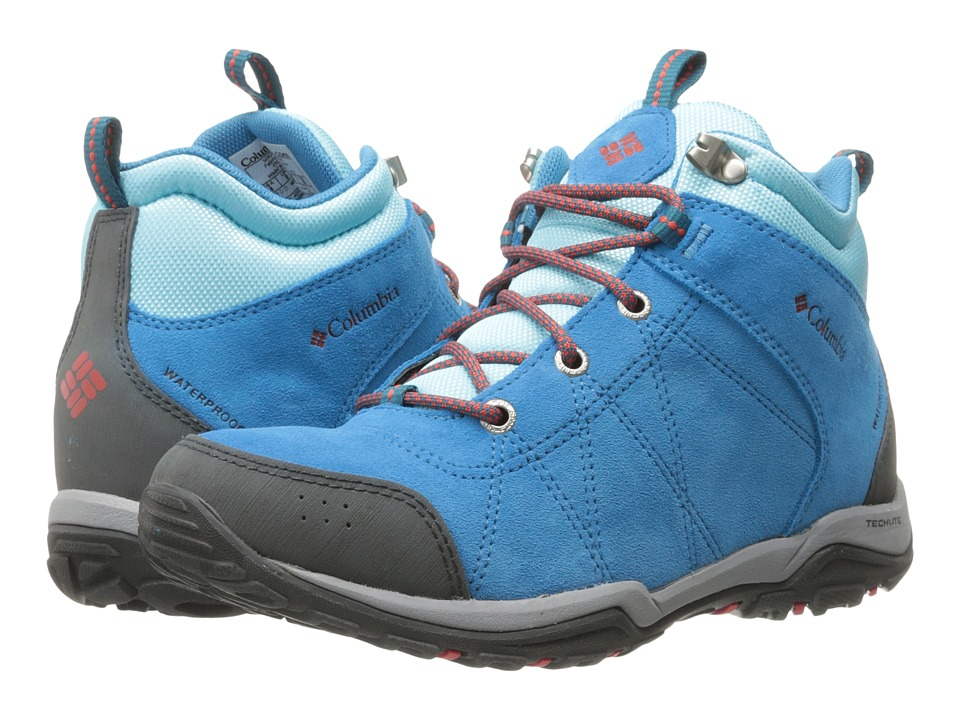 Columbia - Fire Venture Mid Waterproof (Oxide Blue/Spicy) Women